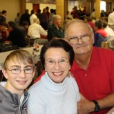 8th Grade Crusaders Welcome Grandparents for Lunch