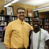 Brother Martin Welcomes Visitors from Haiti