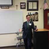 Judge Engelhardt '78 Visits Law Studies Class
