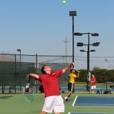 Tennis Wins Against the Purple Knights