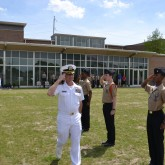 "Cadets ""Relieve the Watch"" at Change of Command Ceremony"