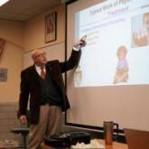 Dr. George Hebert '82 Visits Senior Psychology Class