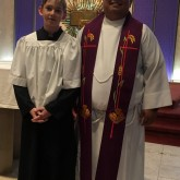 Trent Jenning '22 Honored as Altar Server of the Year