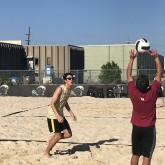 Beach Volleyball Walks Away Victorious in Semifinal Play