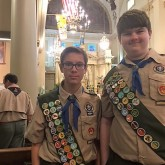 Crusaders Awarded as Outstanding Boy Scouts
