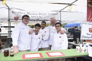 Culinary Crusaders at the 2018 Christian Brothers School's Fest.