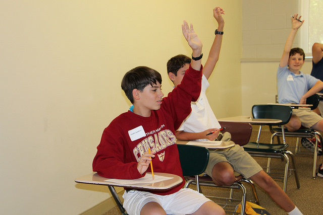 Students in Summer Enrichment participated in an afternoon activity involving Equations, Propaganda and trivia.