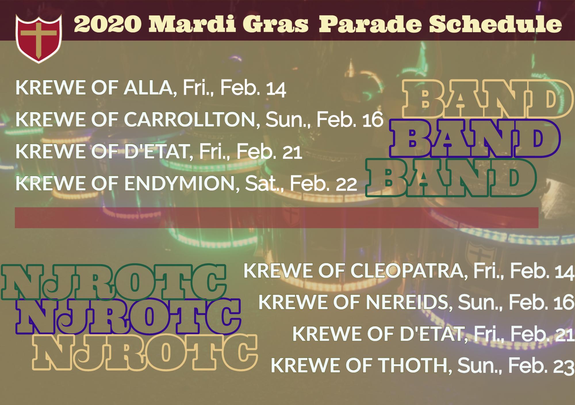 2020 Mardi Gras Parade Schedule
