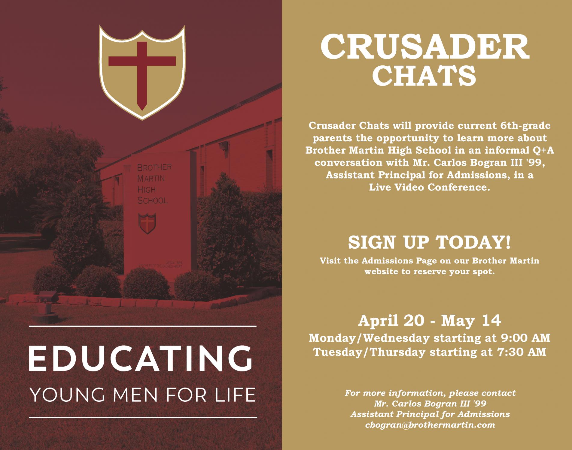 Crusader Chats - Updated