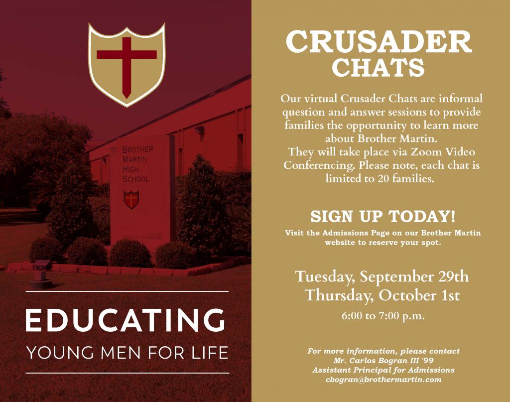 Crusader Chats - Fall 2020