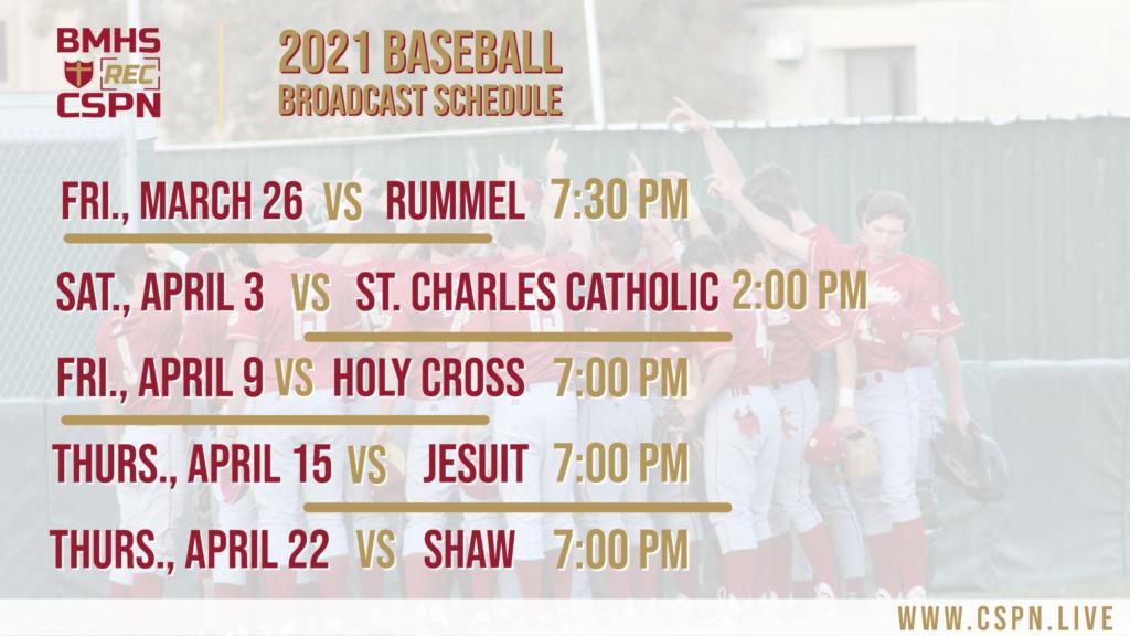 CSPN 2021 Baseball Schedule