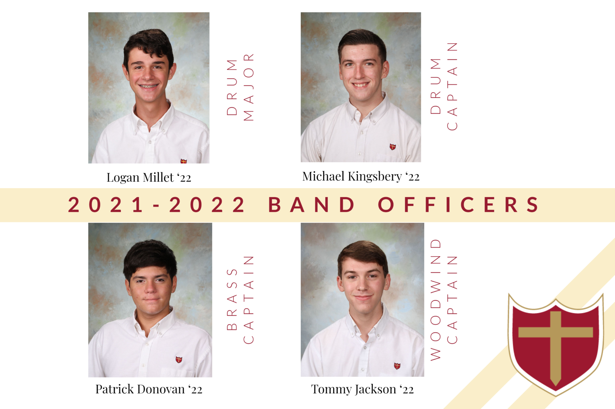 2021-2022 Band Officers